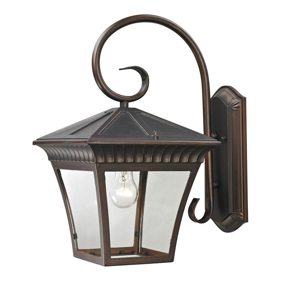 Westmore Lighting Colebrook 18.3-in H Hazelnut Bronze Outdoor Wall Light