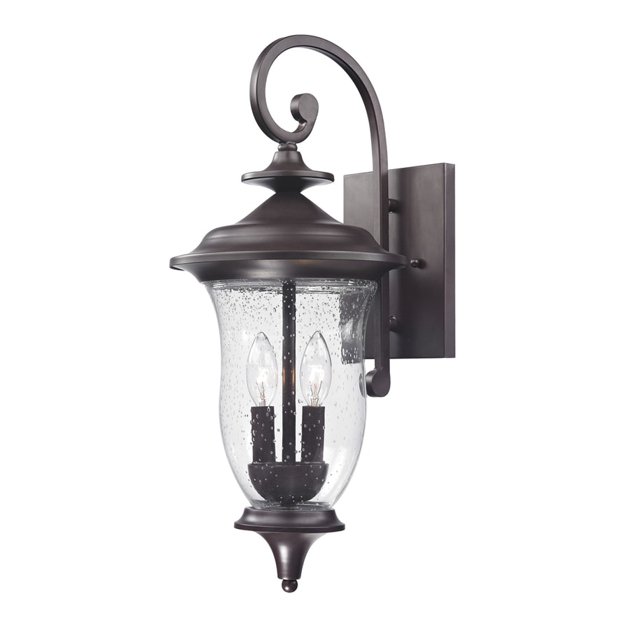 lighting laurelwood 22 in h oil rubbed bronze outdoor wall light at