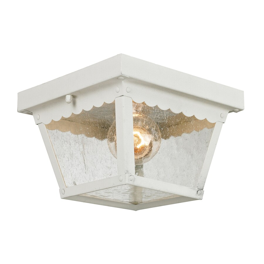 Westmore Lighting Coventry 8.4-in W White Outdoor Flush-Mount Light