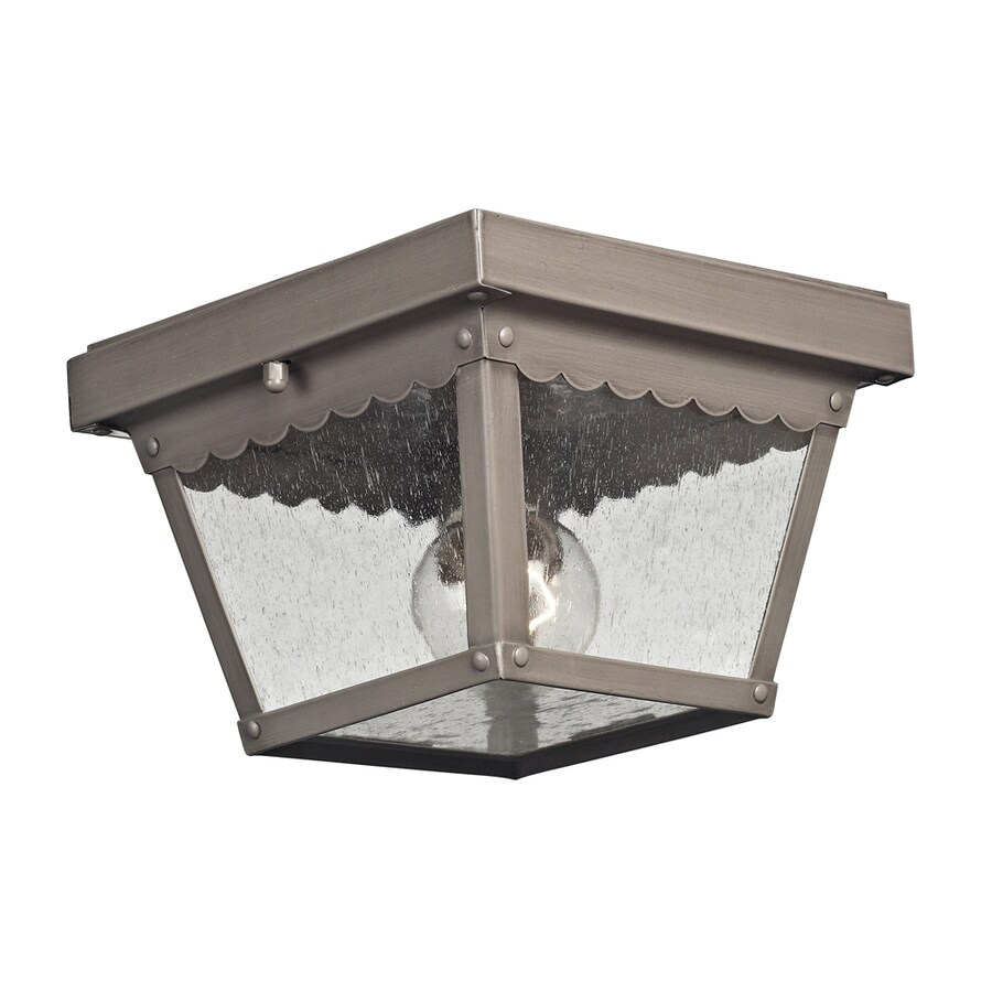Westmore Lighting Coventry 8.4-in W Antique Nickel Outdoor Flush-Mount Light