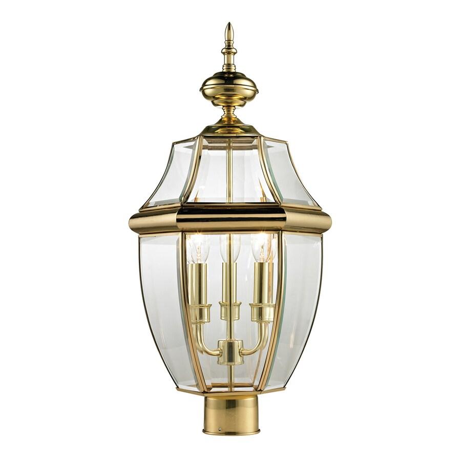 Westmore Lighting Keswick 23-in H Antique Brass Post Light