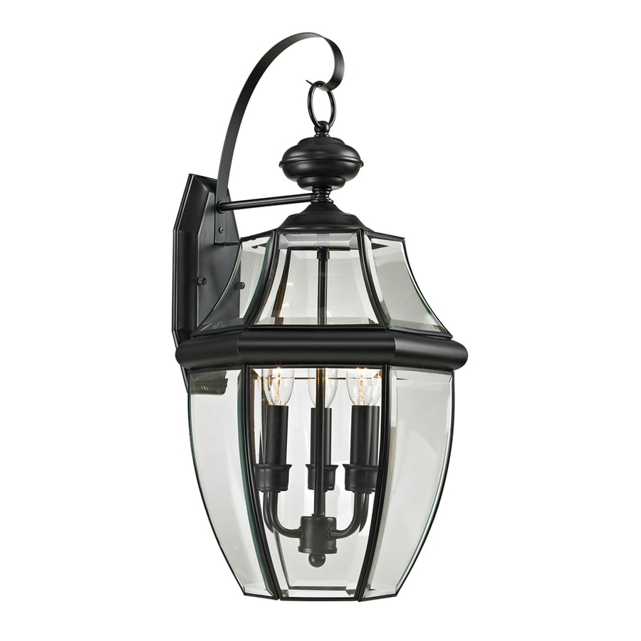 Westmore Lighting Keswick 23-in H Black Outdoor Wall Light