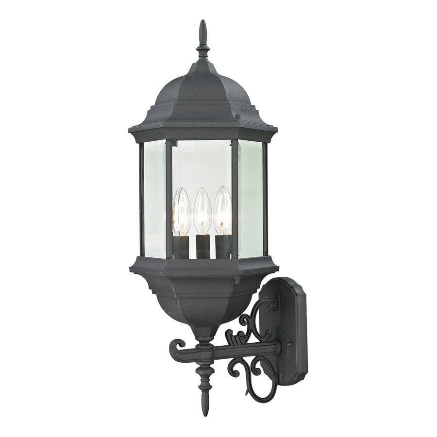 Westmore Lighting Issidore 25-in H Matte Textured Black Outdoor Wall Light