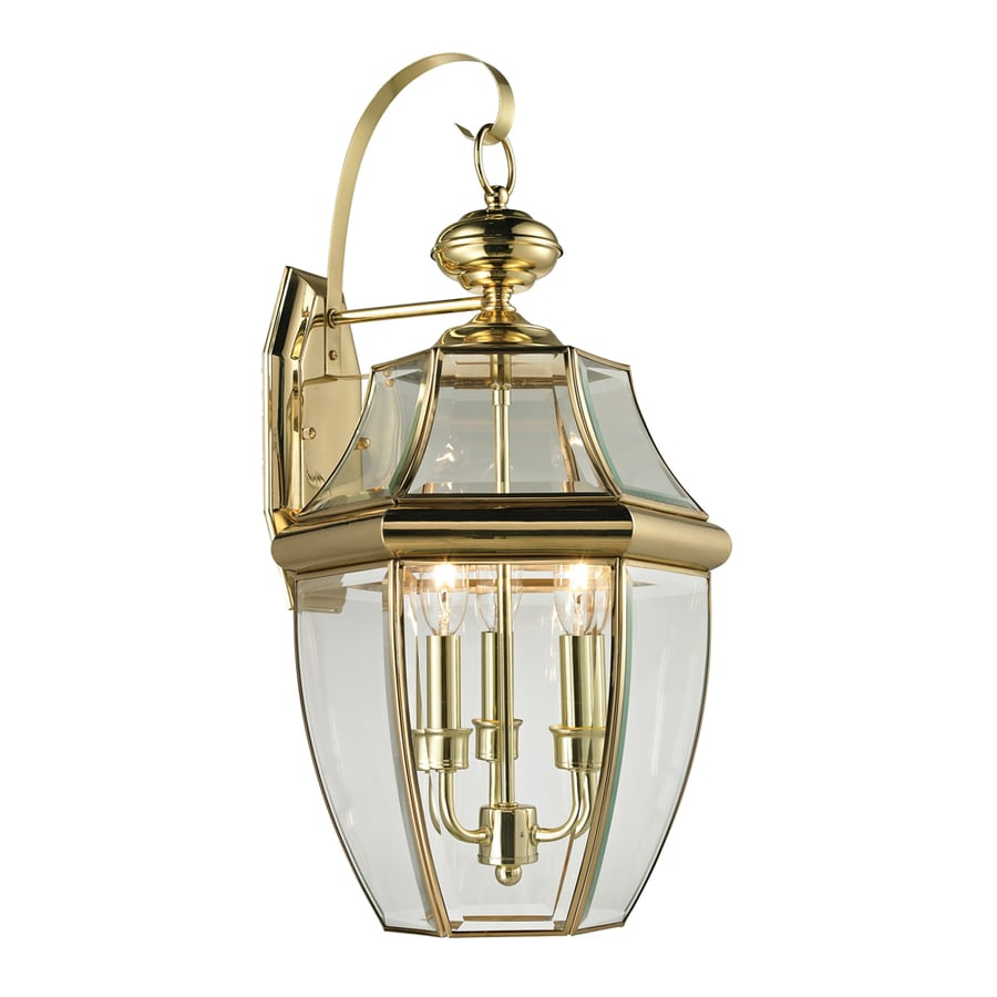 Shop westmore lighting keswick 23 in h antique brass for Brass outdoor lighting