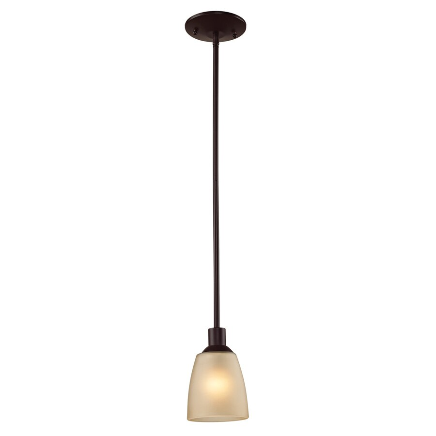 Westmore Lighting Fillmore 4-in Oil-Rubbed Bronze Mini Tinted Glass Pendant
