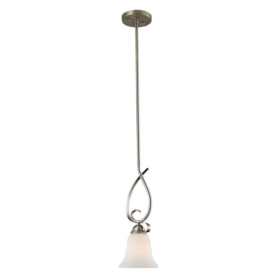 Westmore Lighting Colchester 6-in Brushed Nickel Mini Pendant