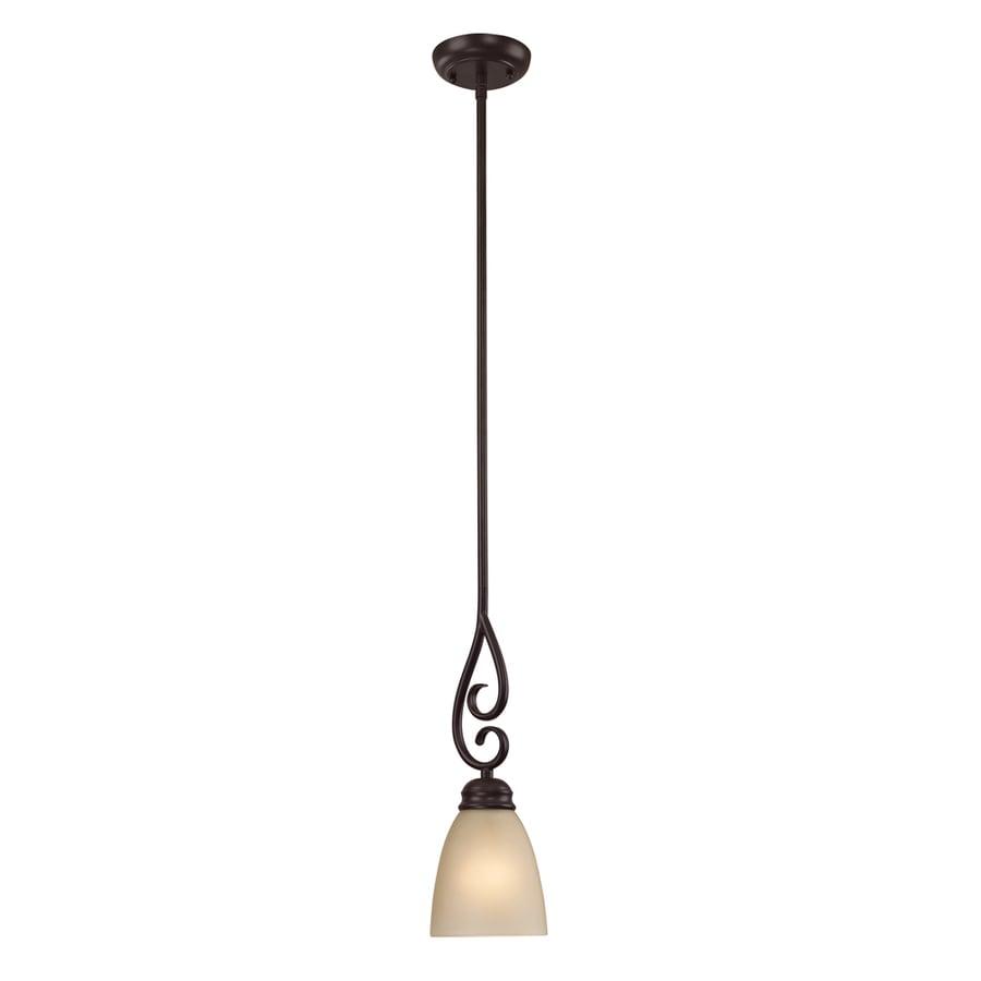 Westmore Lighting Sunbury 5-in Oil-Rubbed Bronze Mini Tinted Glass Pendant