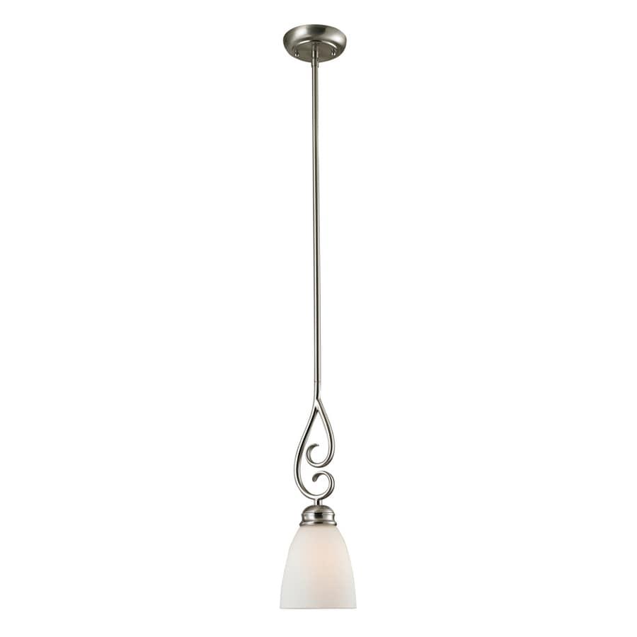 Westmore Lighting Sunbury 5-in Brushed Nickel Mini Pendant