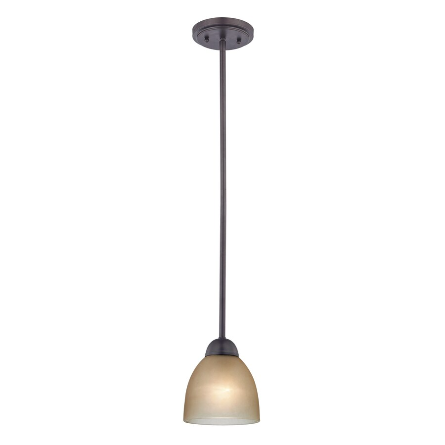 Westmore Lighting Rutherford 6-in Oil-Rubbed Bronze Mini Tinted Glass Pendant