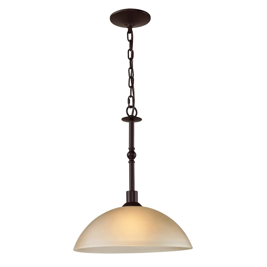 Westmore Lighting Fillmore 6-in Oil Rubbed Bronze Hardwired Single Tinted Glass Bell Pendant