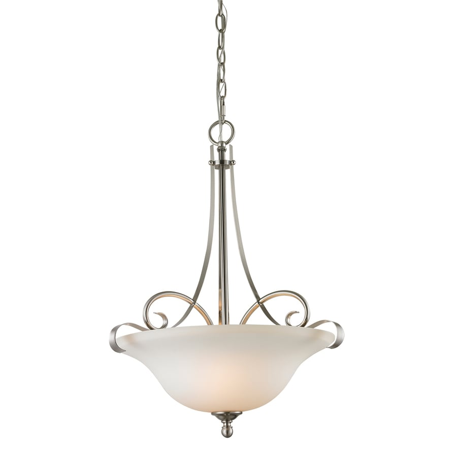 Westmore Lighting Colchester 17-in Brushed Nickel Single Pendant