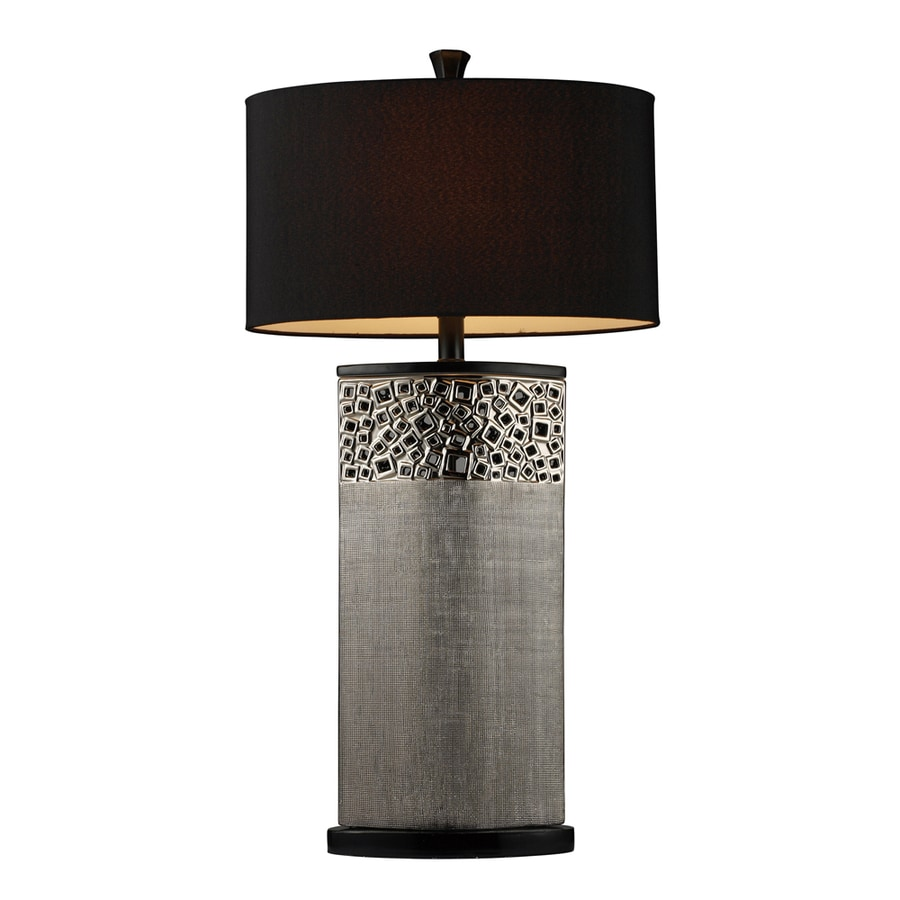 Westmore Lighting Mildura 31-in 3-Way Silver Indoor Table Lamp with Fabric Shade