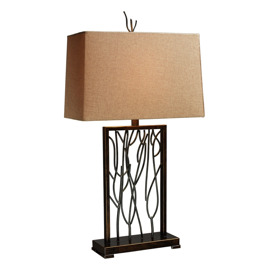 Westmore Lighting Alice Springs 33-in 3-Way Ibiza Bronze and Iron Indoor Table Lamp with Fabric Shade