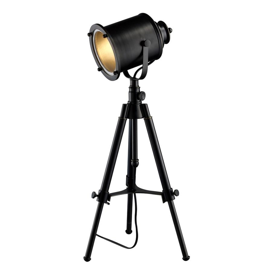 Westmore Lighting Grega 34-in Black Indoor Table Lamp with Metal Shade