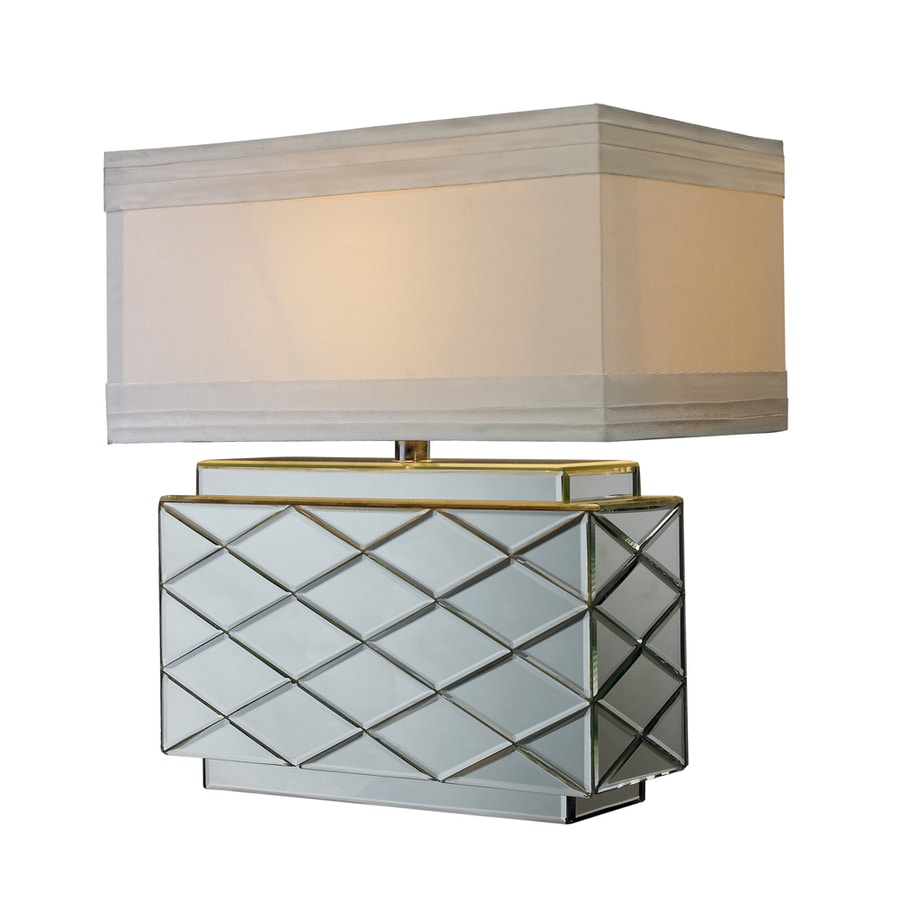 Westmore Lighting Brayloch 22-in 3-Way Mirror Indoor Table Lamp with Fabric Shade