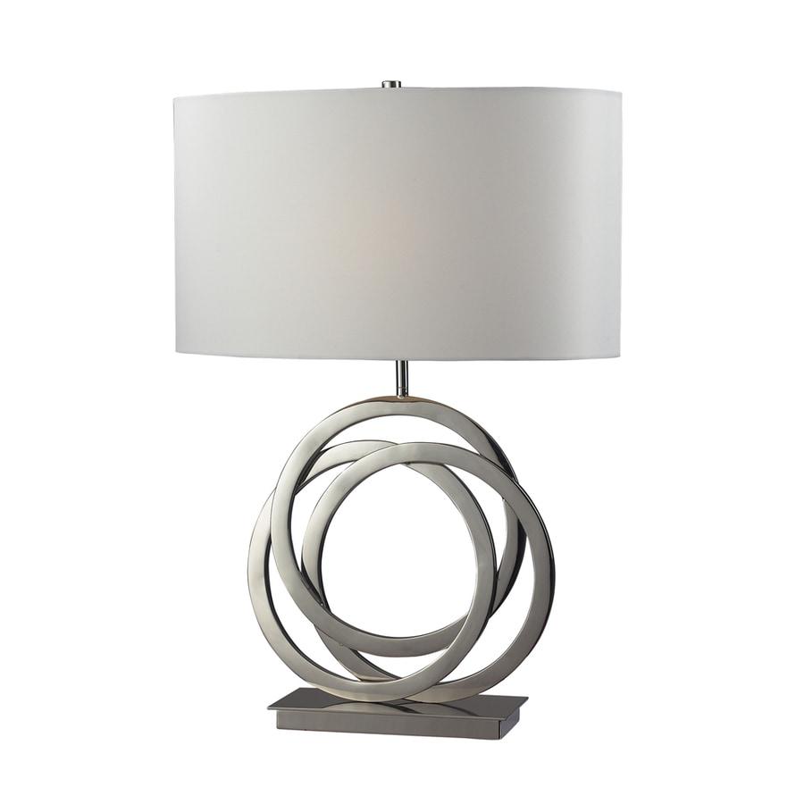 Westmore Lighting Hazelwood 25-in 3-Way Polished Nickel Indoor Table Lamp with Fabric Shade