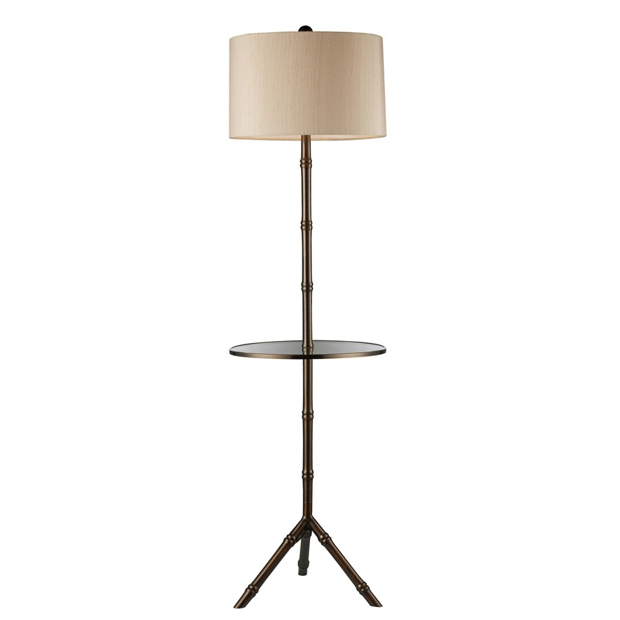 Westmore Lighting Lansford 59-in 3-Way Gaelic Bronze Indoor Floor Lamp with Fabric Shade