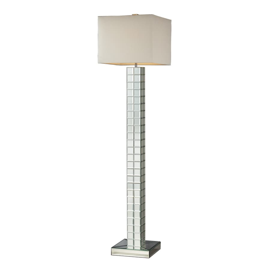 Westmore Lighting Newton 63-in 3-Way Clear Indoor Floor Lamp with Fabric Shade
