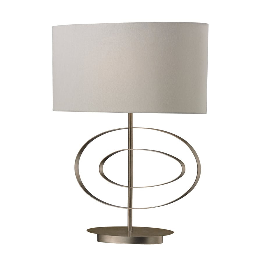 Westmore Lighting Furlong 26-in 3-Way Vintage Silver Leaf Indoor Table Lamp with Fabric Shade
