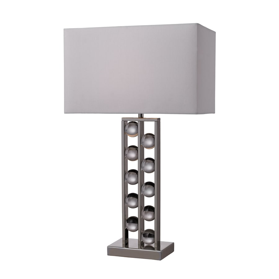 Westmore Lighting Piccadilly 28-in 3-Way Chrome Indoor Table Lamp with Fabric Shade