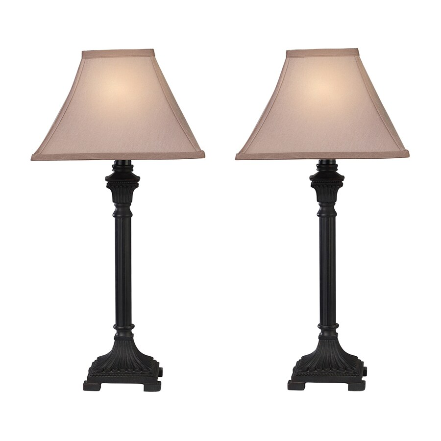 Shop westmore lighting parrsboro 26 in brown indoor table for Brown table lamp shades