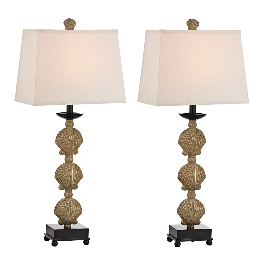 Westmore Lighting Whitmore 31.5-in 3-Way Richio Gold Indoor Table Lamp with Fabric Shade