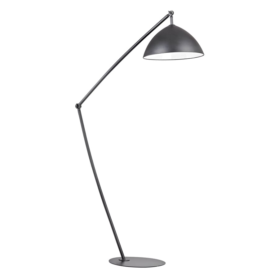 Westmore Lighting Kristo 50-in Matte Black Indoor Floor Lamp with Metal Shade