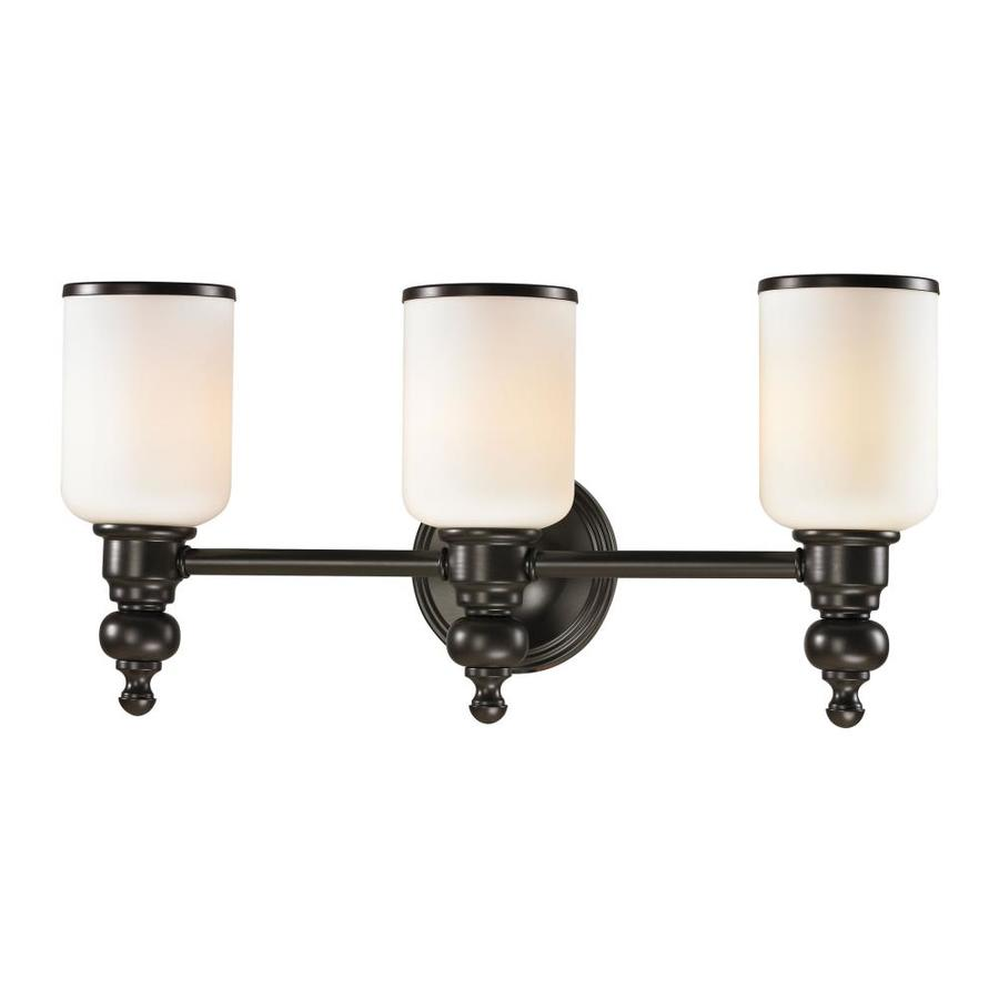 Vanity Lights Oil Rubbed Bronze : Shop Westmore Lighting Trimalchio 3-Light Oil Rubbed Bronze Cylinder Vanity Light at Lowes.com