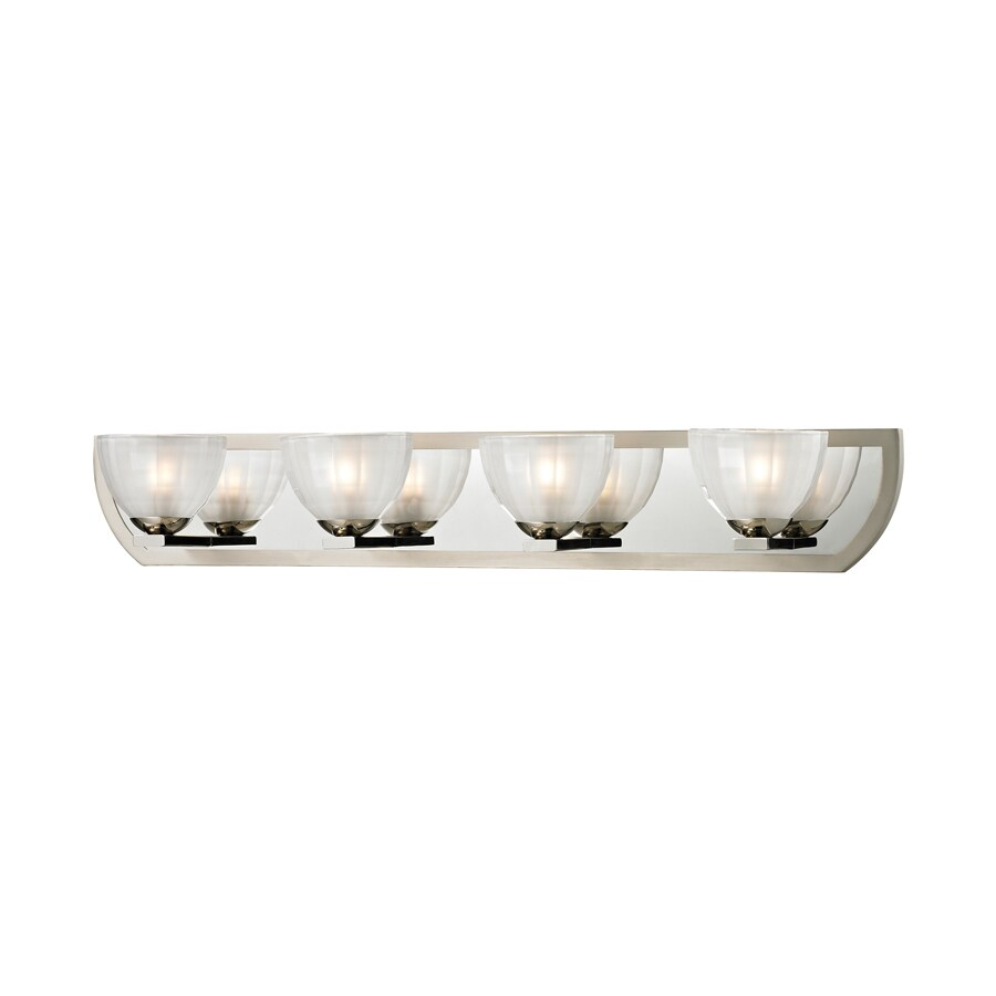 Shop Westmore Lighting Bridalveil 4-Light Polished Nickel/Matte Nickel Vanity Light at Lowes.com