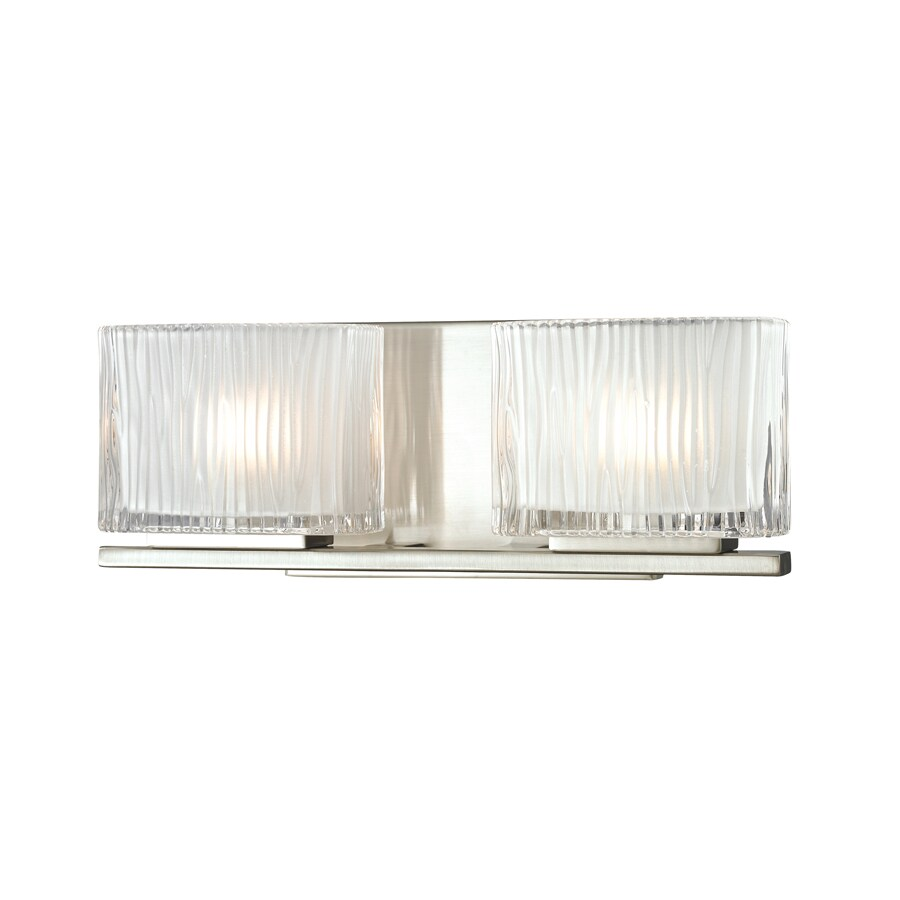 Westmore Lighting Cascata 2-Light Brushed Nickel Square Vanity Light