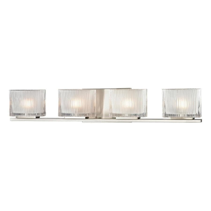 Westmore Lighting Cascata 4-Light Brushed Nickel Square Vanity Light