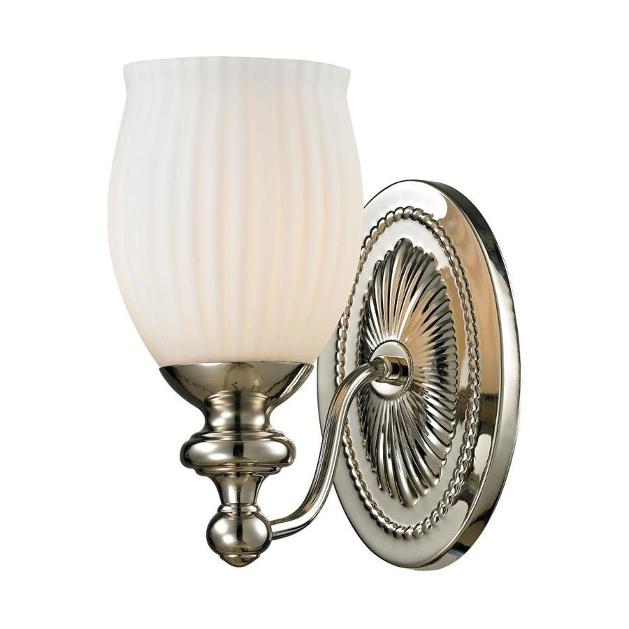 Westmore Lighting Grosvenor 1-Light Polished Nickel Bell Vanity Light