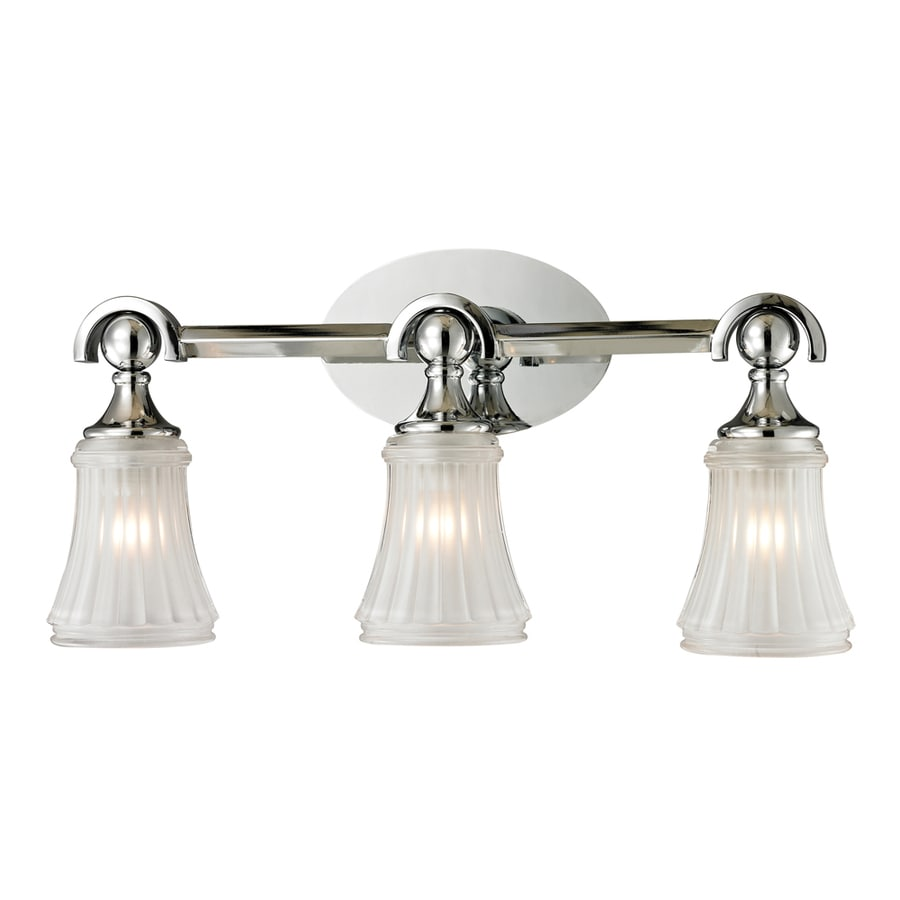 Vanity Lights In Chrome : Shop Westmore Lighting 3-Light Greystone Polished Chrome Bathroom Vanity Light at Lowes.com
