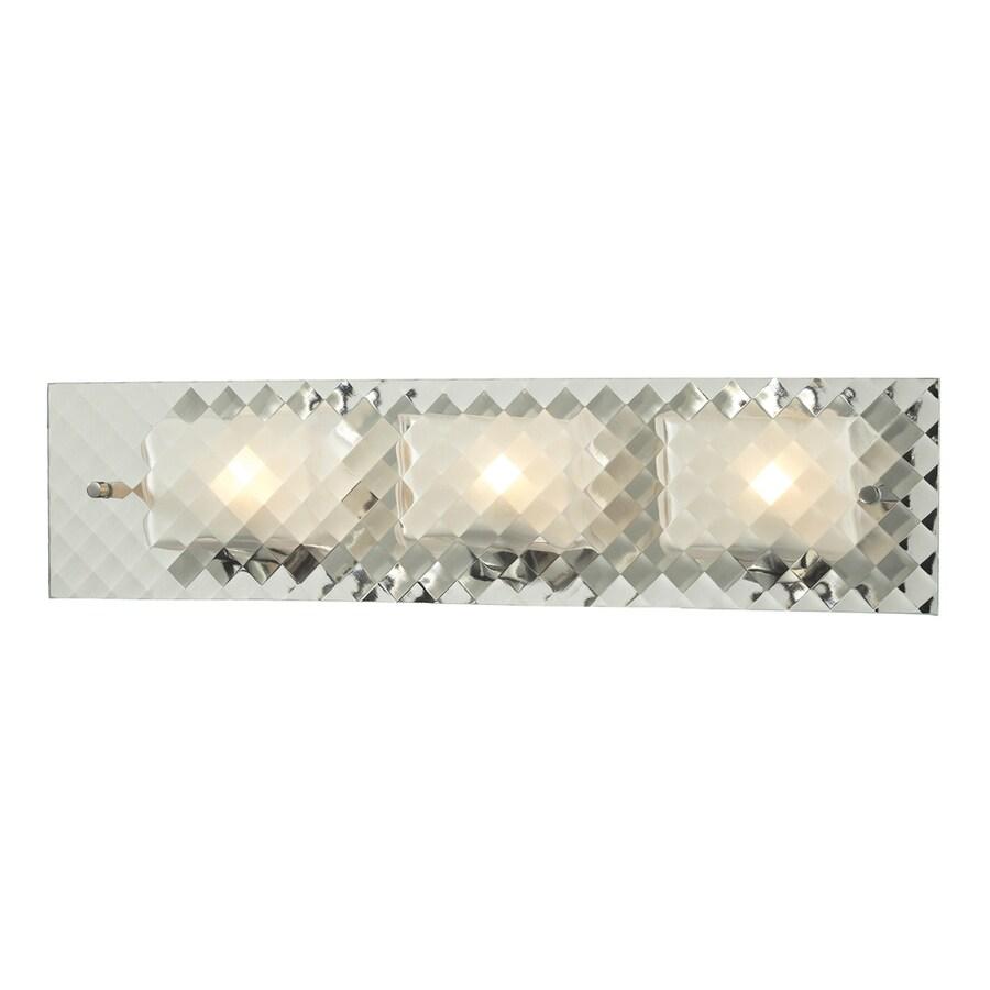 Westmore Lighting Solisbury 3-Light Brushed Nickel Square Vanity Light