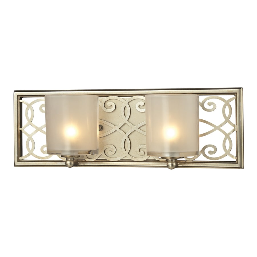 Westmore Lighting Dijon 2-Light Aged Silver Rectangle Vanity Light