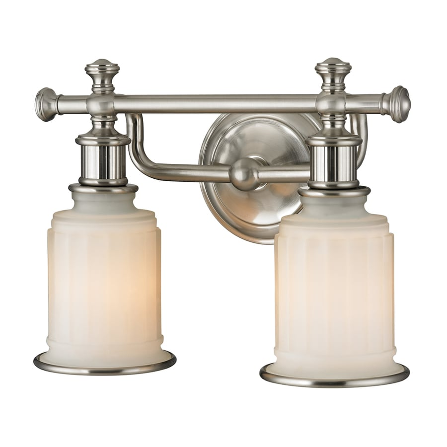 2 Light Vanity Light Brushed Nickel : Shop Westmore Lighting Nicolette 2-Light Brushed Nickel Bell Vanity Light at Lowes.com
