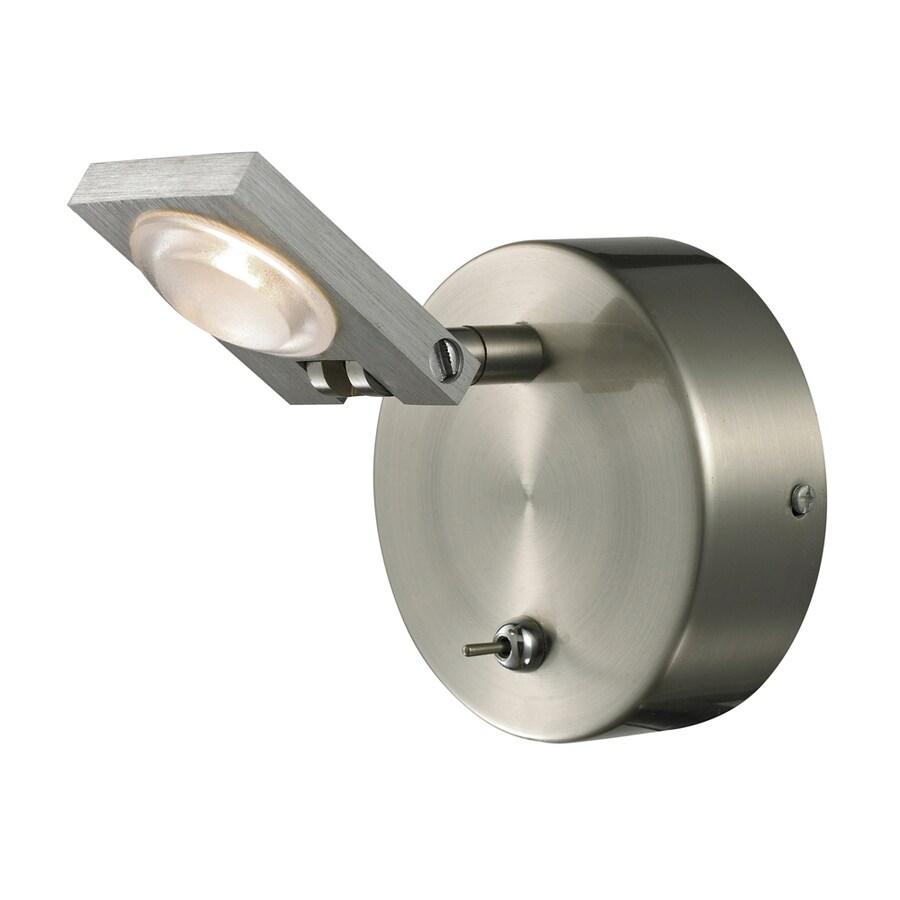 Westmore Lighting Calistoga 1-Light Brushed Nickel/Brushed Aluminum Square Vanity Light