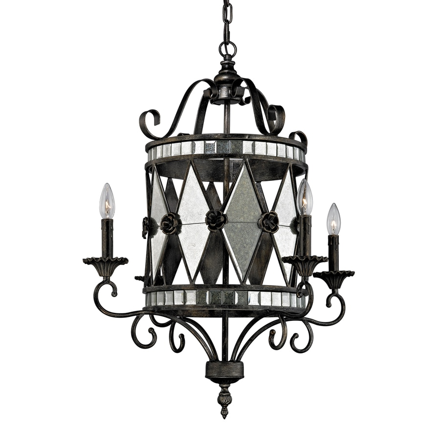 Westmore Lighting Stargate 26-in 4-Light Blackened Silver Candle Chandelier