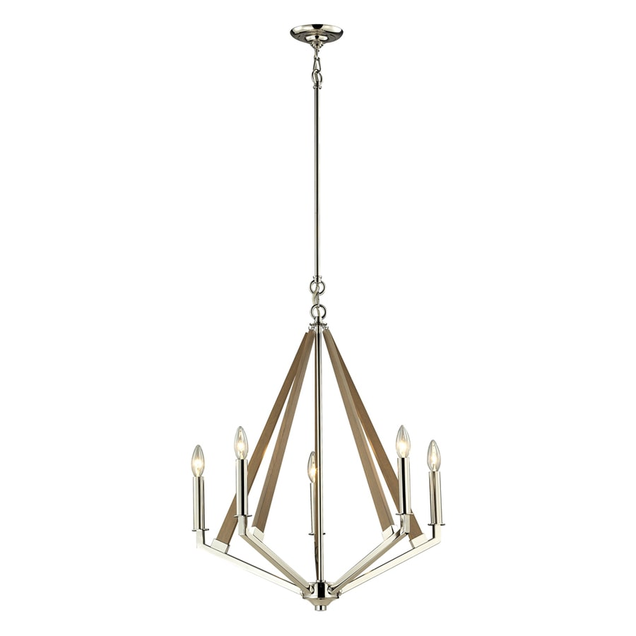 Westmore Lighting Kinghall 12-in 4-Light Polished Nickel Candle Chandelier