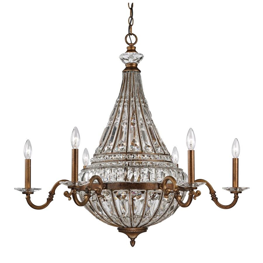 Westmore Lighting Wakefield 35-in 14-Light Mocha Crystal Crystal Empire Chandelier