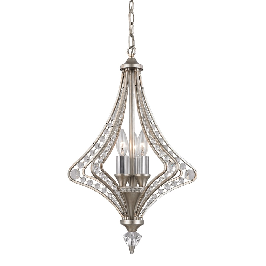 Westmore Lighting La Rochelle 15-in 3-Light Satin Silver Crystal Candle Chandelier