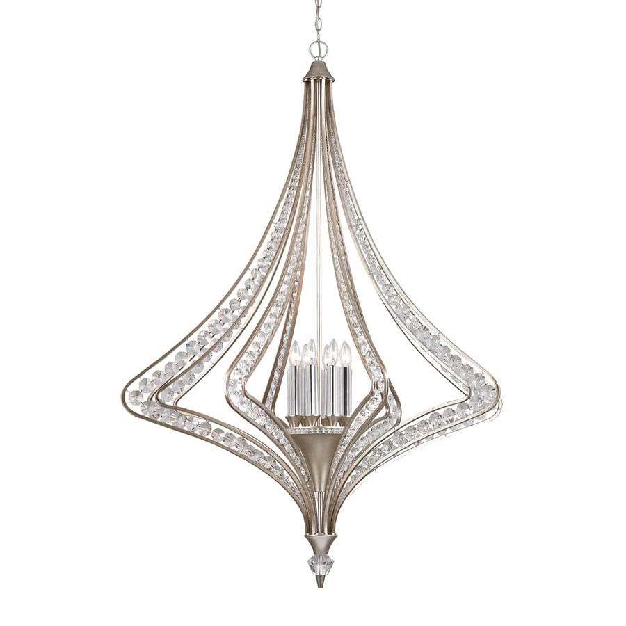 Westmore Lighting La Rochelle 15-in 5-Light Satin Silver Crystal Candle Chandelier
