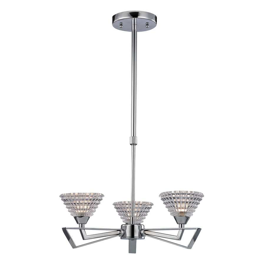 Westmore Lighting Chattanooga 18-in 5-Light Polished Chrome Crystal Crystal Shaded Chandelier