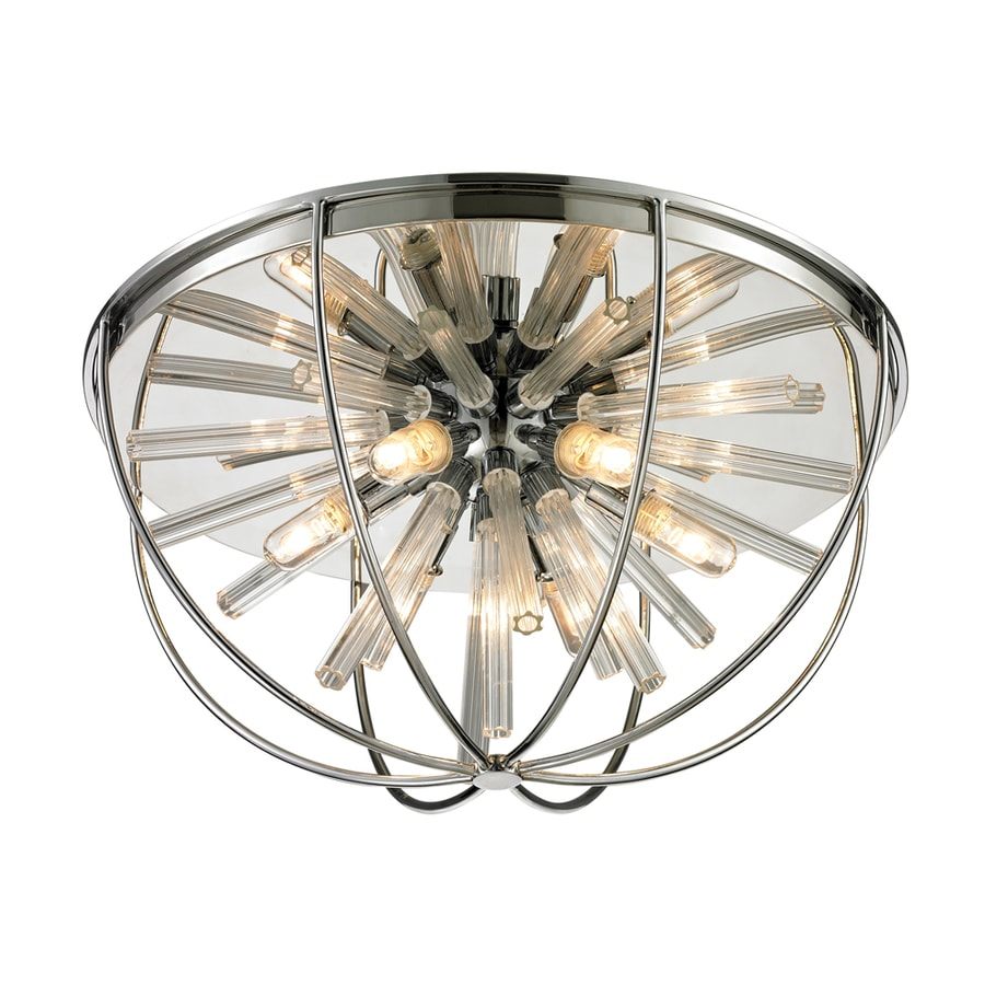 Westmore Lighting Goddard 17-in W Polished Chrome Ceiling Flush Mount Light