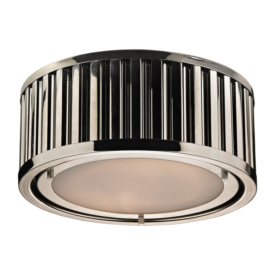 Westmore Lighting Chelsea 12-in W Polished Nickel Ceiling Flush Mount Light