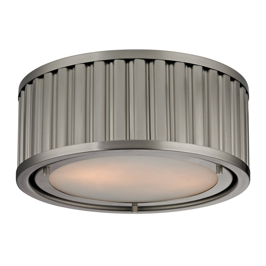 Westmore Lighting Chelsea 12-in W Brushed Nickel Ceiling Flush Mount Light