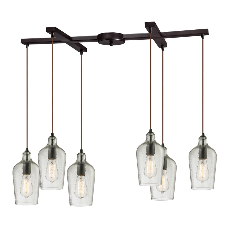 Westmore Lighting Glassmith 33-in Oil-Rubbed Bronze Mini Clear Glass Pendant