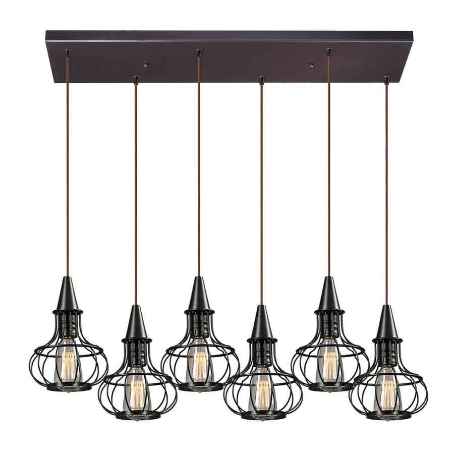 Westmore Lighting Bournemouth 10-in Oil Rubbed Bronze Rustic Hardwired Single  Pendant