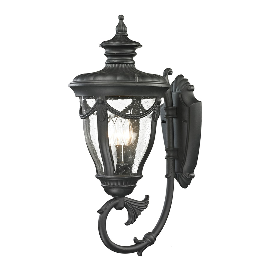 Westmore Lighting Cheshire 26-in H Textured Matte Black Outdoor Wall Light