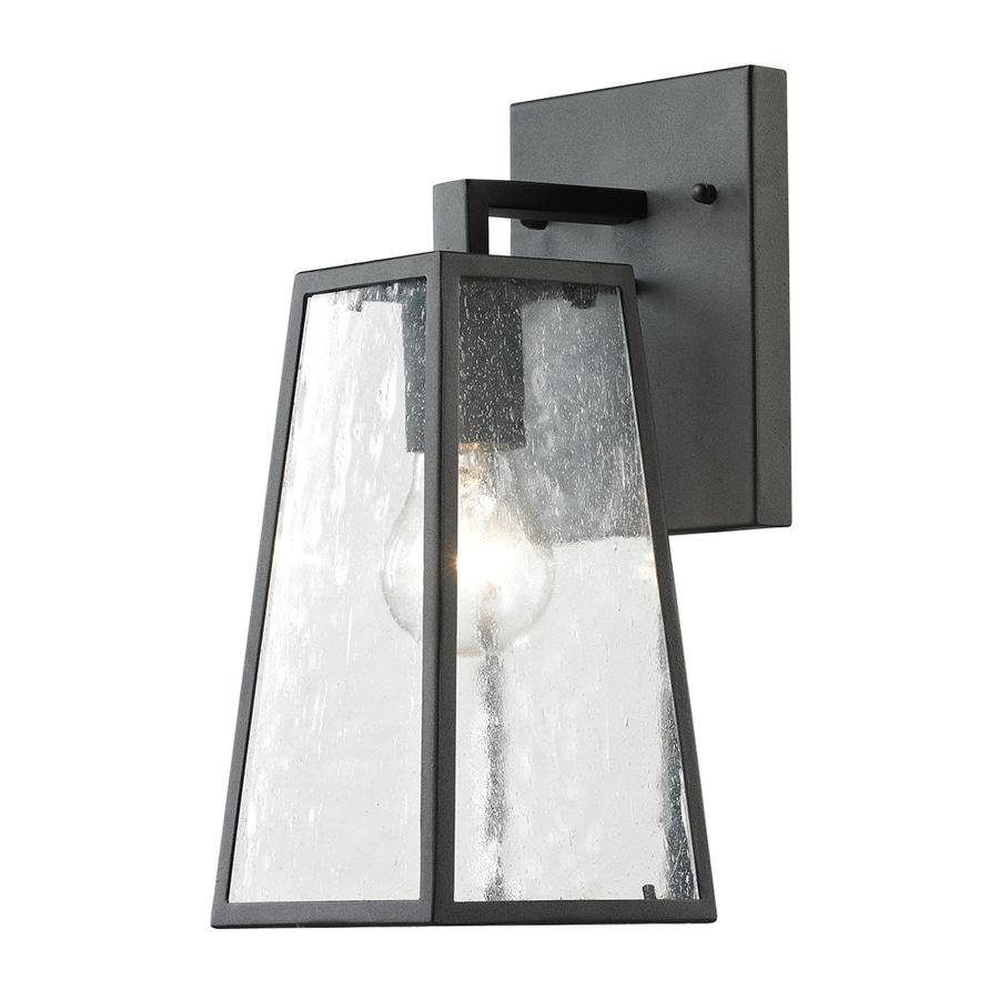 Westmore Lighting Fleetwood 14-in H Textured Matte Black Outdoor Wall Light